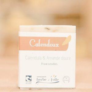 Le savon herbe folle Calendoux idéal pendant la grossesse