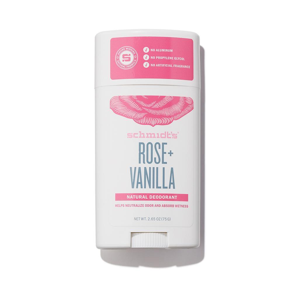 Déodorant naturel : déo Schmidt's à la Rose et à la Vanille