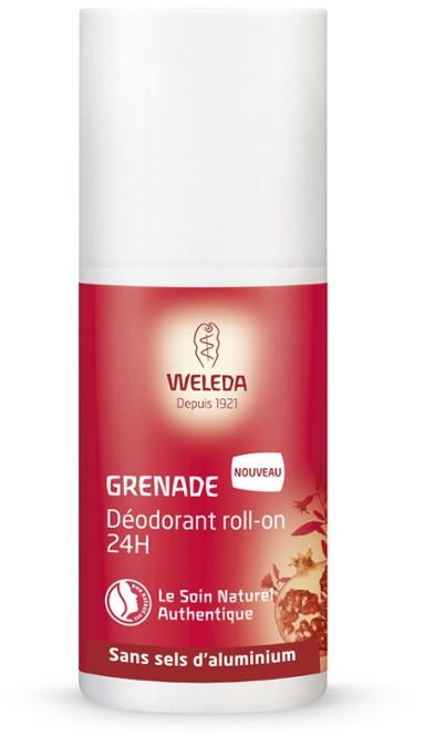 Déodorant naturel : Déo à bille Weleda à la grenade (avec alcool)